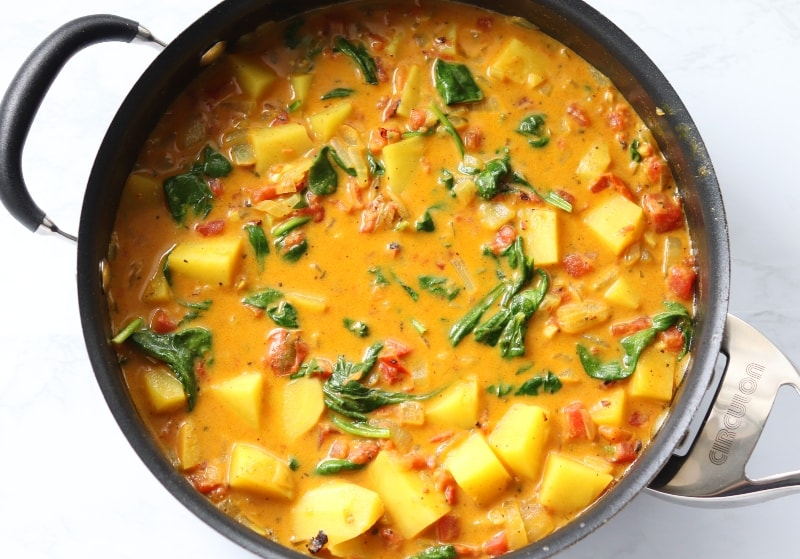 yellow curry with vegetables