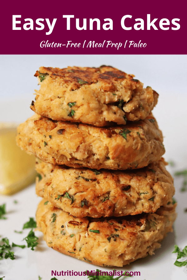 tuna cakes recipe pin