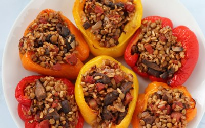 Vegan Stuffed Peppers Meal Prep