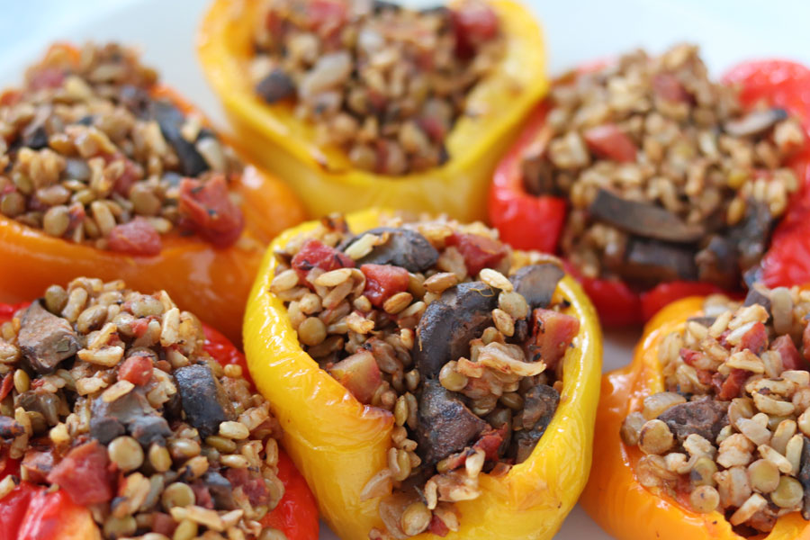 vegan stuffed peppers