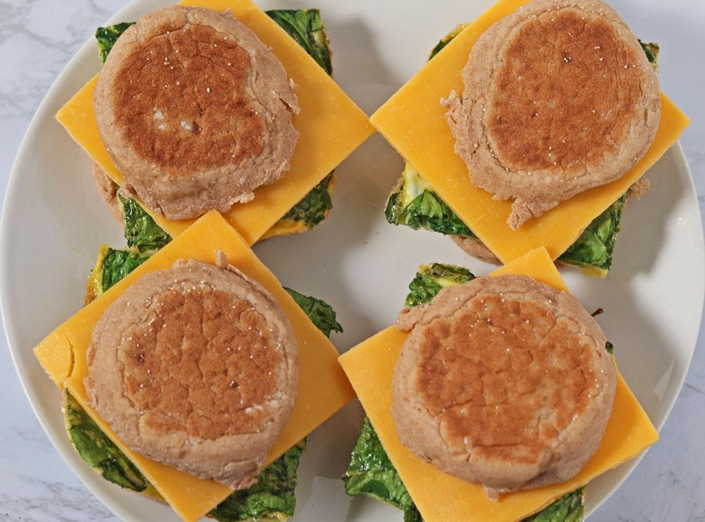 vegetarian breakfast sandwiches