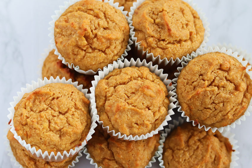 almond flour sweet potato muffins