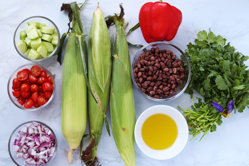black bean and corn salad ingredients