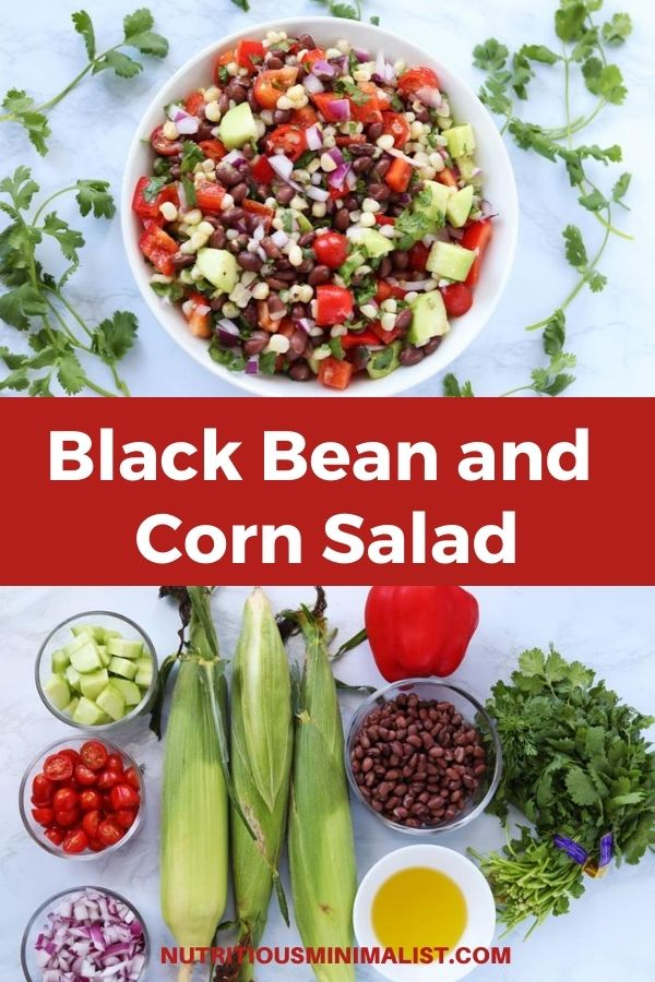 black bean and corn pin
