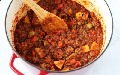 Low FODMAP Ground Beef Picadillo
