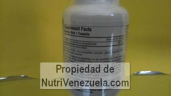 5-HTP 100mg de Source Naturals, 30 capsulas