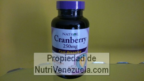 Cranberry 250 mg de Natrol, 120 tabletas