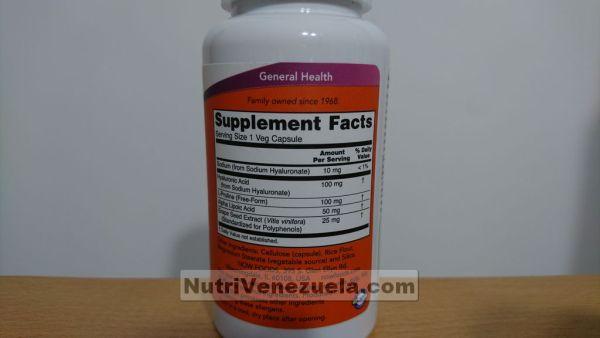 Acido Hialuronico 100 mg NOW