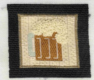 Beer Coaster needlepoint