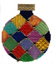 needlepoint stitch guide for Jody Designs ornament by needlepoint expert Janet M. Perry