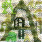Letter A in various styles in needlepoint