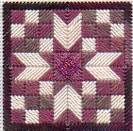 Quilt Block Needlepoint Twinchy