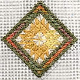 Needlepoint Leaf Ornament Pattern – freebie alert
