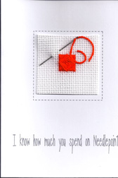 Needlepoint Notecards from Sandy Grossman-Morris
