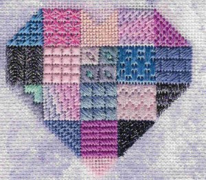 Hurray for Hearts – Needlepoint Stitch Sampler eBook Now Available!