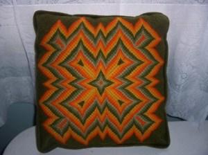 vintage four-way Bargello pillow