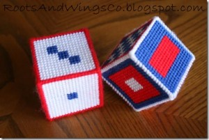 Plastic Canvas Baby Blocks – Free Pattern