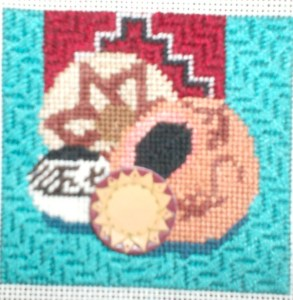 dede indian pottery needlepoint