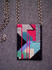 Mosaic Stitch Necklace – Free Pattern from Ziva Needlepoint