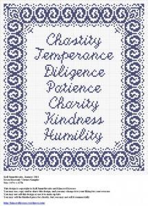 Free Sampler Pattern – Seven Heavenly Virtues