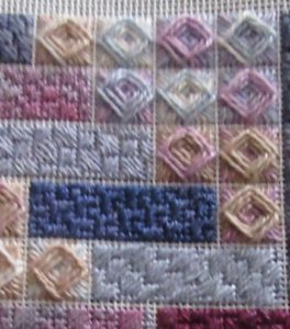 scrapbook needlepoint stitch sampler