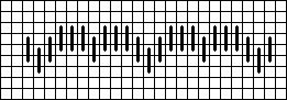 nicholas owen mini bargello needlepoint chart, designed by needlepoint expert janet m. perry