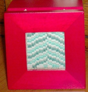 bargello needlepoint in sudberry mini box designed and stitched by needlepoint expert janet m. perry