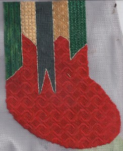 holiday ribbons free needlepoint stitch sampler designed and stitch by needlepoint expert janet m. perry