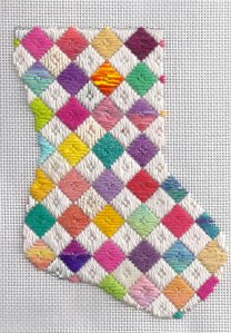 Scrap Bag Needlepoint – Picking Threads for a Project