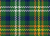 vermont charted needlepoint or cross stitch tartan plaid, designed by needlepoint expert janet m. perry