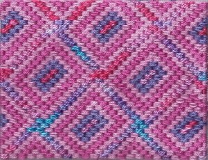 nutty rectangle bargello needlepoint, designed and stitched by needlepoint expert janet m. perry