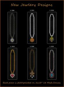 """Needlepoint """"Jewelry"""" Canvases from JP"""
