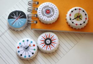 Make Mid-century Modern Stitcher's Magnets
