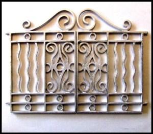 metall dollhouse gate from eBay