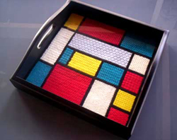 Mondrian Tray Free Needlepoint Pattern