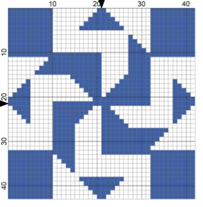 Free Patterns of Needlepoint Quilt Block Coasters