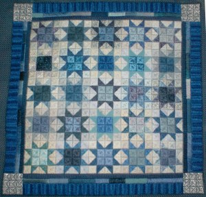 Winter Stars Needlepoint Quilt Portrait