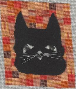 Halloween Cat Free Needlepoint Project