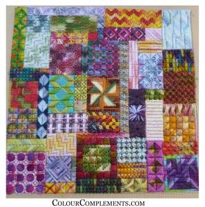 Free Colorful Needlepoint Stitch Sampler