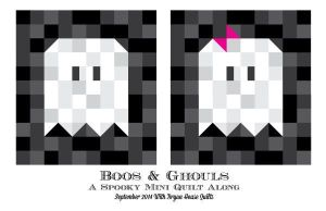 Quilt Blocks, Square Stitches Inspire Halloween Needlepoint