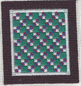 Double Four Patch Free Needlepoint Ornament