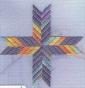 Three Free Quilt Block Ornaments in Needlepoint