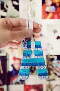 Use Thread Leftovers to Make Letter Ornaments