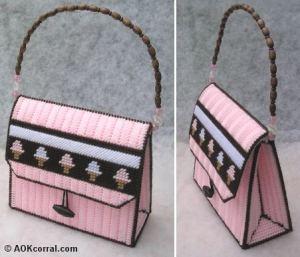 plastic canvas ice cream purse