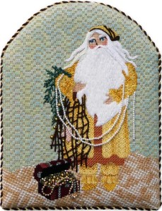 leigh designs seaside santa needlepoint