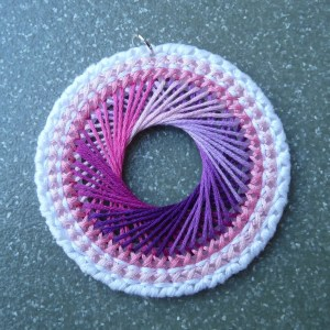String Art Spiral Plastic Canvas Necklace