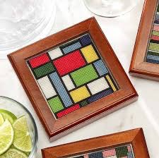 Mod Coasters Great in Plastic Canvas