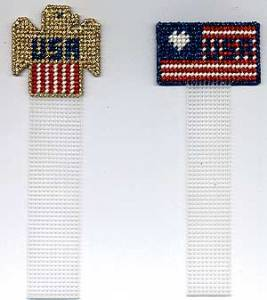 Free Patriotic Plastic Canvas Bookmarks