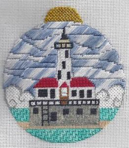 Chicago harbor light needlepoint