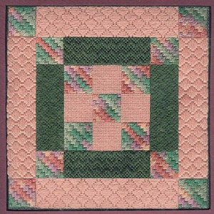 greek column quilt block needlepoint project